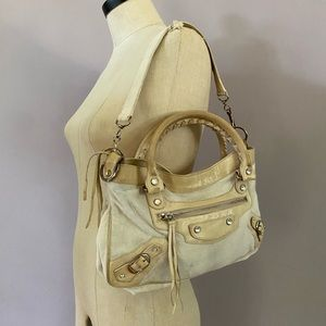 Balenciaga Paris pony fur & Swarovski studded bag